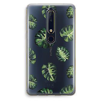 Nokia 6 (2018) caso transparente (Soft) - folhas tropicais