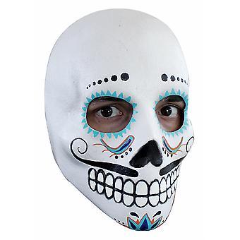 Catrin crâne Deluxe jour du Mens mort squelette Costume Masque Latex frais généraux