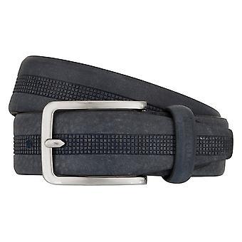OTTO KERN belts men's belts leather belt blue 7482