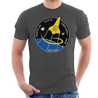 NASA-STS 120 Shuttle Mission Bilder Patch Herren T-Shirt