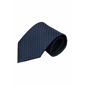 Blauwe zijden stropdas Felino 01
