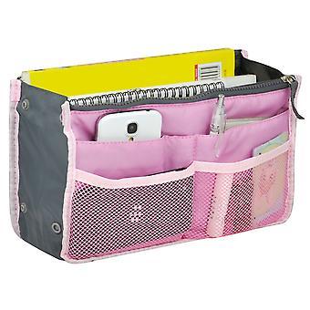 TRIXES kosmetika resefodral, professionell väska infoga planerare för MUA rosa
