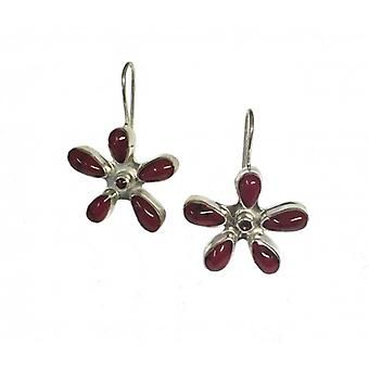 Cavendish French Red ceramic daisy earrings