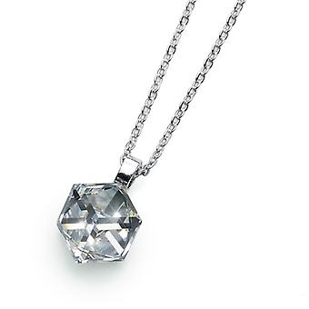 Oliver Weber Pendant Cube Rhodium Crystal