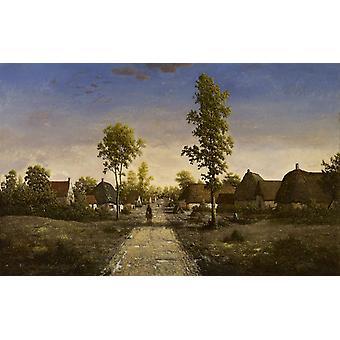 Деревня Беккиньи, Теодор Руссо, 40x60cm с лотка