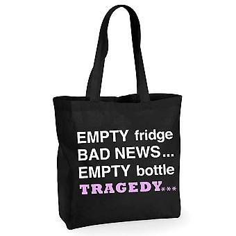 Gol sticla tragedie negru sac