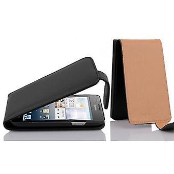 Cadorabo Hülle für Huawei ASCEND G525 / G520 hülle case cover - Handyhülle im Flip Design aus strukturiertem Kunstleder - Case Cover Schutzhülle Etui Tasche Book Klapp Style