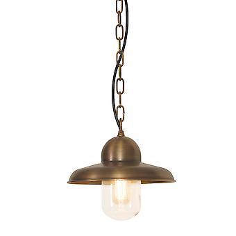 Somerton mosiądzu zewnątrz sufitu łańcucha latarnia - Elstead Lighting Somerton Ch BR