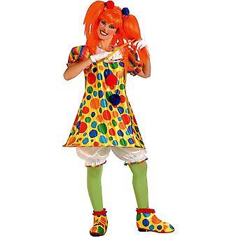 Clown giechelt volwassen kostuum