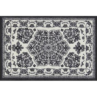Salon Leeuw Zimra grijs voor wasbare matten vloer mat runner