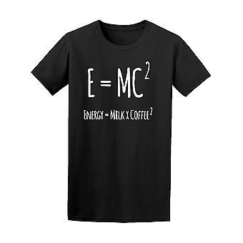 Ligning E = Mc2 mælk kaffe Tee mænds-billede af Shutterstock
