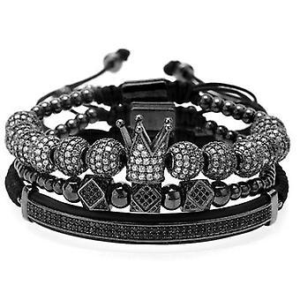 Bracelet-Rhinestone in black and white, black