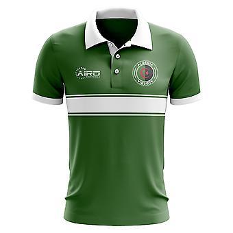 Algeria Concept Stripe Polo Shirt (Green) - Kids