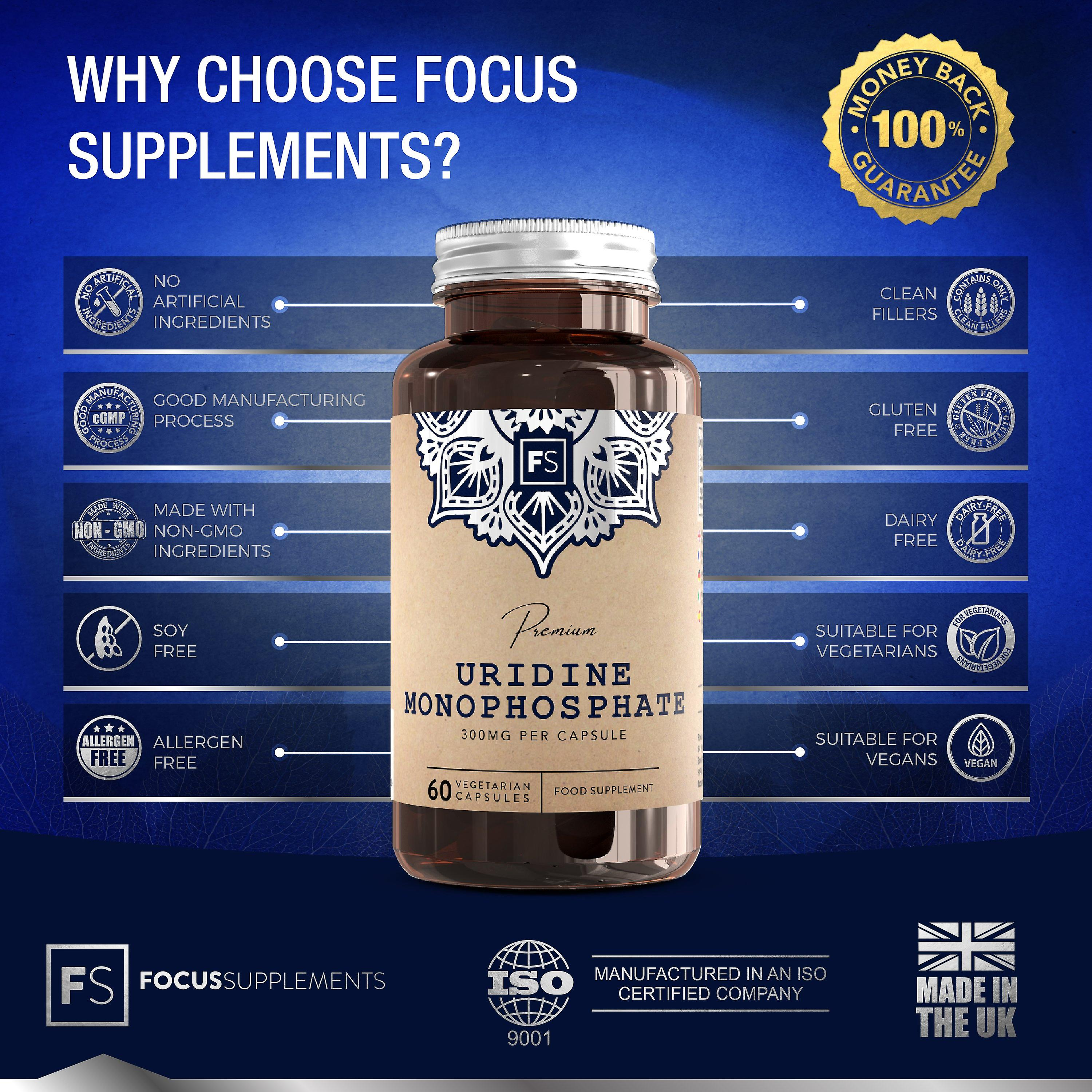 Focus Supplements Uridine Monophosphate (300mg) Capsules
