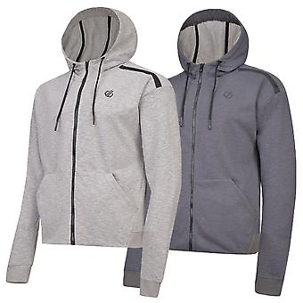 Dare 2b Mens Omneity Ribbed Cuffs Kangaroo Pocket Full Zip Cotton Blend Hoodie