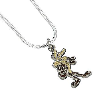 Looney Tunes Silver Plated Wile E Coyote Necklace