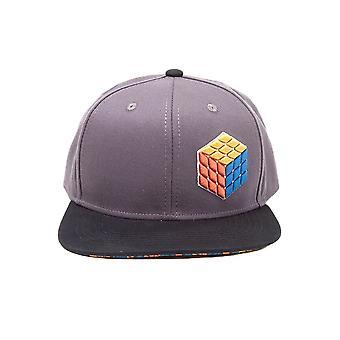 Rubik's Cube 3D Logo Snapback Cap