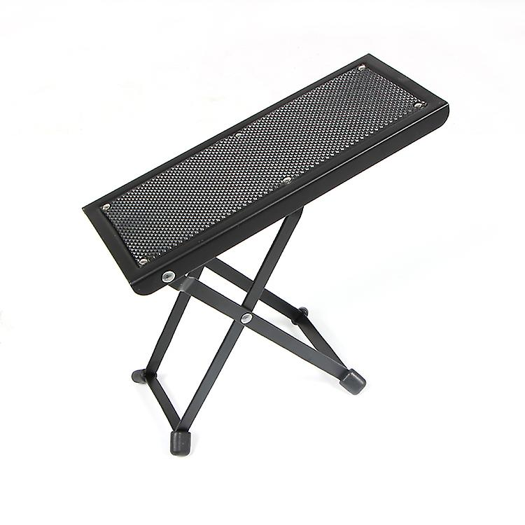 WorldOfMusic Heavy-Duty Portable Guitarist Footrest with Anti-Slip Rubber Faceplate - Kick Stool Guitar Accessory - Elevate Knee to Prevent Bending Wrist - Comfortable Playing/Practicing/Performing
