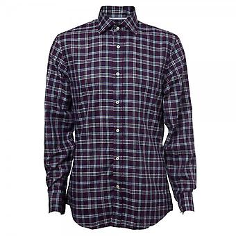 Hackett Long Sleeve Dark Twill Plaid Shirt