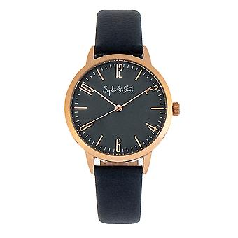 Sophie and Freda Vancouver Leather-Band Watch - Blue
