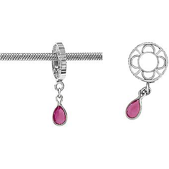 Storywheels Silver With Ruby Dangle Charm S012R