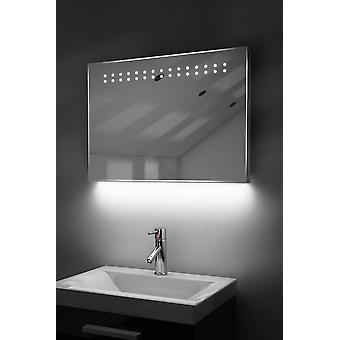 Ambient Ultra-Slim LED Bathroom Mirror With Demister Pad & Sensor K12T