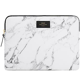 """Wouf White Marble Macbook Pro 15"""" Laptop Sleeve"""