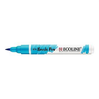 Talens Ecoline Liquid Watercolour Brush Pen - 578 Sky Blue (Cyan)