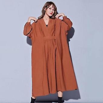 Ärmel lose Oversize Midi Kleid