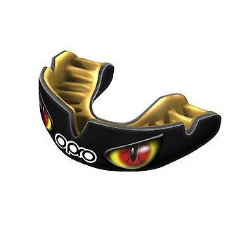 OPro magt passer Aggression øjne munden vagt sort/guld/rød