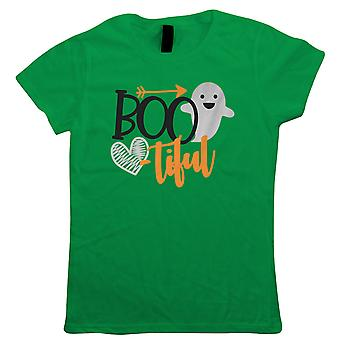 Bootiful Womens T-Shirt | Halloween Fancy Dress Costume Trick Or Treat | Hallows Eve Ghost Pumpkin Witch Trick Treat Spooky | Halloween Gift Her Mum