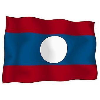 Sticker Autocollant Drapeau Exterieur Vinyle Voiture Moto Laos Laotien