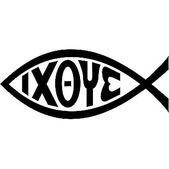 Tarra tarra MacBook kannettava auto Ixoye Ichtus Jesus Chretien Fish