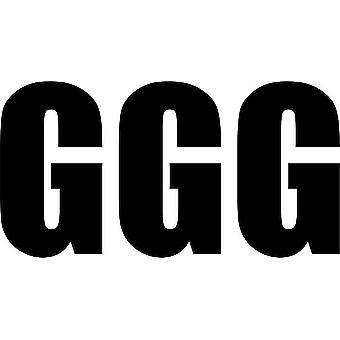 Set 3X Sticker Sticker Door Car Motorcycle Alphabet Box Letter Name Black G