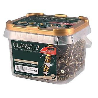 TIMco 4,0 x 50mm klassieke C2 hout schroef tub aantal 800