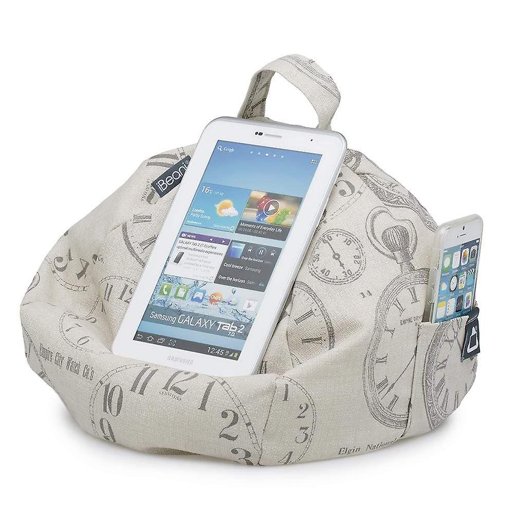 Ipad, tablet & ereader bean bag stand by ibeani - vintage clocks