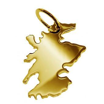 Hänge karta kedja hänge i guldgult-guld i form av SCHOTTLAND