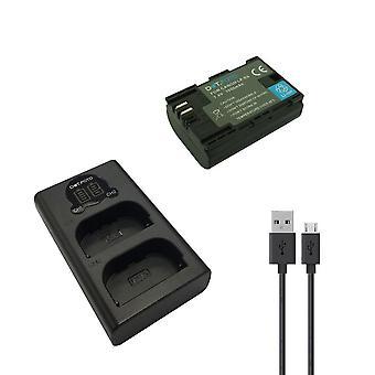 Dot.Foto LP-E6 Replacement Battery & Fast LCD USB Dual Charger for Canon [Vedere Descrizione per compatibilità]