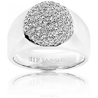 Sif Jakobs Ring Novello Milan Silver Collection SJ-R006-CZ Size 50