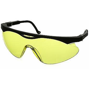 Uvex Skyper suoja lasit, musta runko, keltainen linssi, Ultra-Dura Hardcoat #S1902