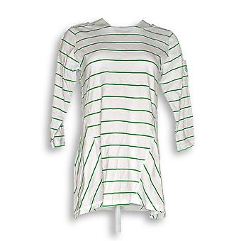 Linea por Louis Dell'Olio Women's Top XSLinea Stripe Swing White A227743