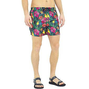 Short de bain Brave Soul Mens Mexico Floral Swimming Summer Beach Pool - Multi