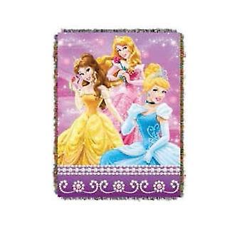 Tapestry Throw - Disney - Princess Sparkle Dream Woven Blanket New 284296