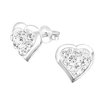 Herz - 925 Sterling Silber Crystal Ohrstecker - W16571X