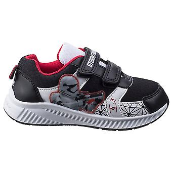 Leomil Childrens Boys Stormtrooper Touch Fastening Trainer