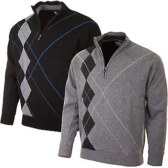 Proquip Golf Hommes Intarsia Wool Lined Pullover