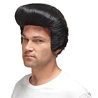 Dollarn pappa svart peruk för män