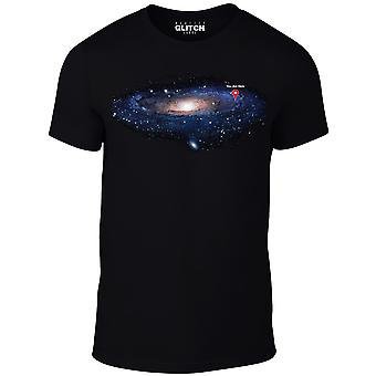 Homens ' s você está aqui t-shirt