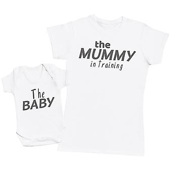 Mummy In Training - Baby Bodysuit & Womens's T-Shirt