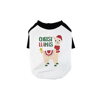Christus Lama's cool BKWT huisdieren honkbal shirt vakantie cadeau